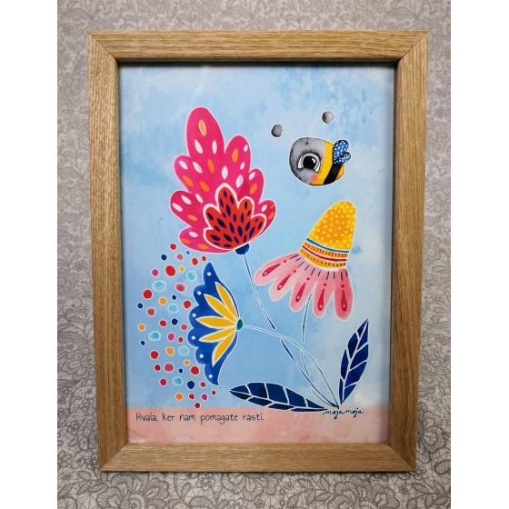 Art Print in frame 13x18 cm Thank you