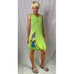 Green dress zebra