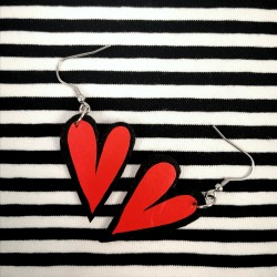 Hearted earrings - mini