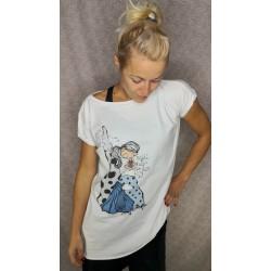 Prevelika majica Najdi svojo ljubezen - bela