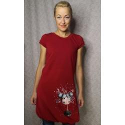 Obleka Zaupaj vesolju - rdeča