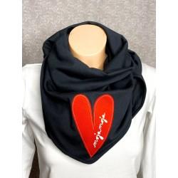 Black scarf Heart