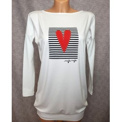 Long sleeved top Heart