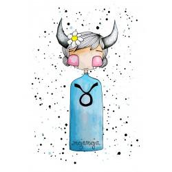 Art Print Horoscope Bull