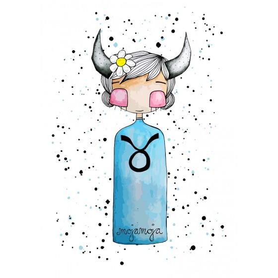 Art print Horoskop Bik