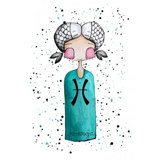 Art print Horoskop Ribi