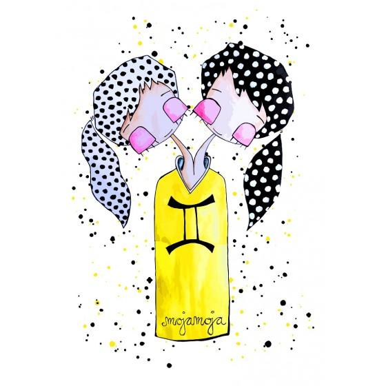 Art print Horoskop Dvojčka