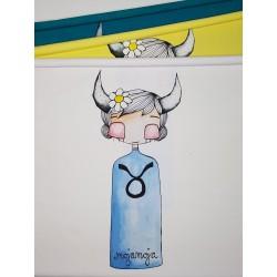 Panel 50x70 Horoscope Bull
