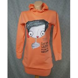 Orange hoodie Čist huda