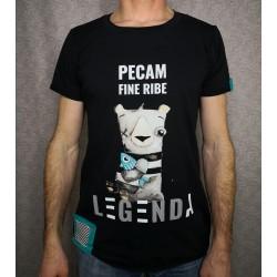 Men t-shirt Legenda Pecam fine ribe
