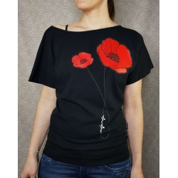 Poppy Black Top