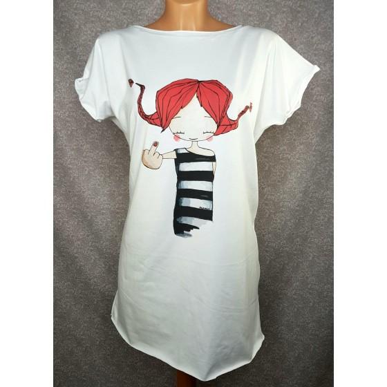 Prevelika majica Pika - bela