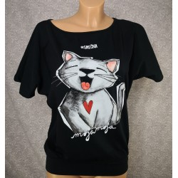 Majica Srečna - črna
