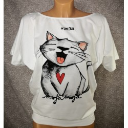 Majica Srečna - bela