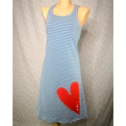 Modra črtasta oblekica