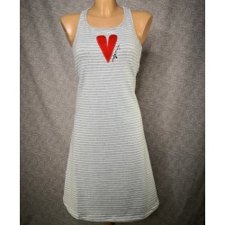 Grey striped dress