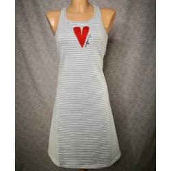 Siva črtasta oblekica