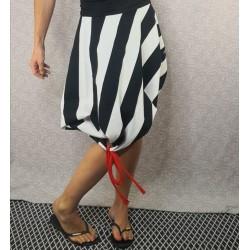 Striped tetrapack skirt