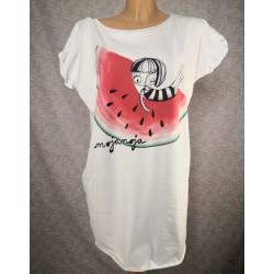 Prevelika majica Lubenica - bela
