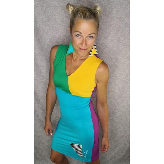 Obleka na preklop - pisana
