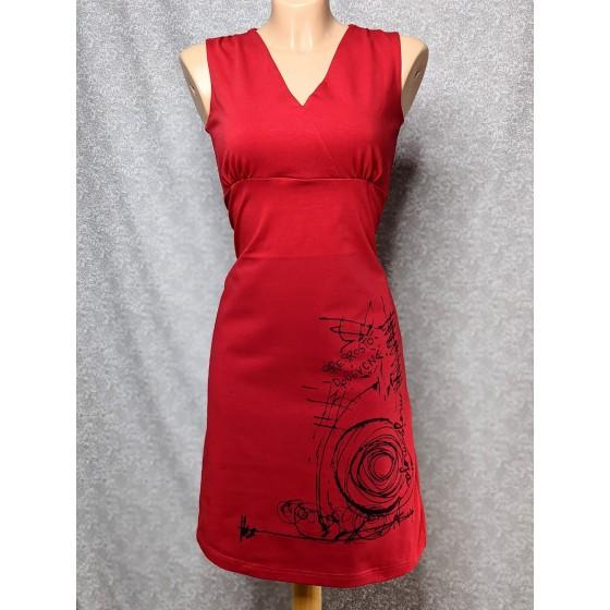 Obleka na preklop - rdeča